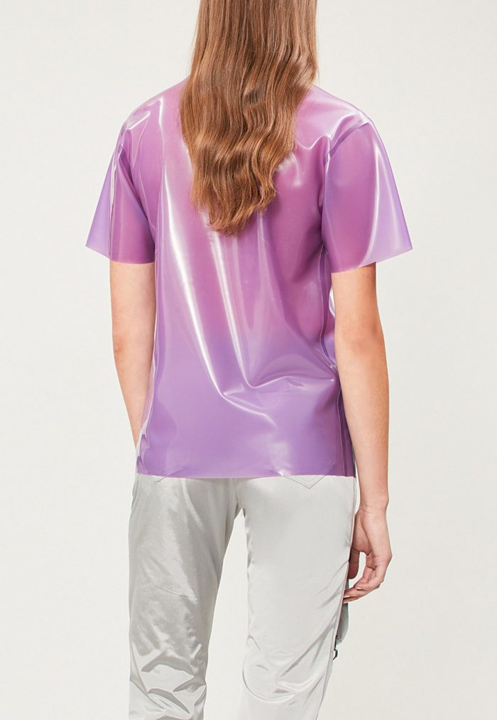 hanger selfridges purple t shirt-crop